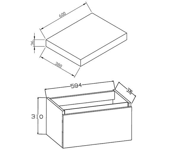 Technical drawing QS-V72240 / EC60WMWG