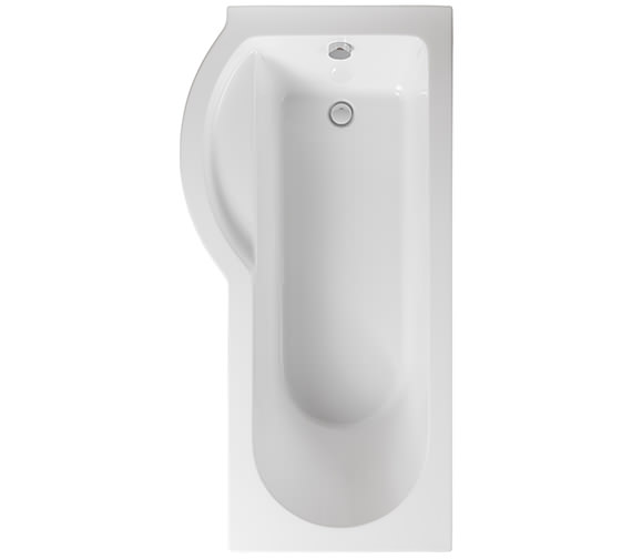 Pura Arco Left Hand 1700 x 850mm Shower Bath - PBSBLH17