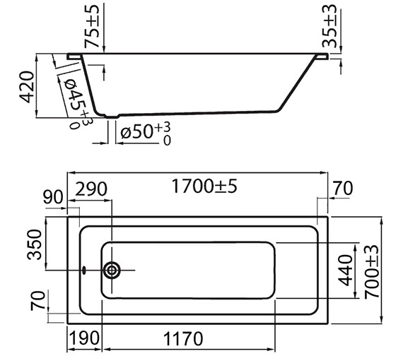 Technical drawing QS-V72254 / PBBQSE17X7