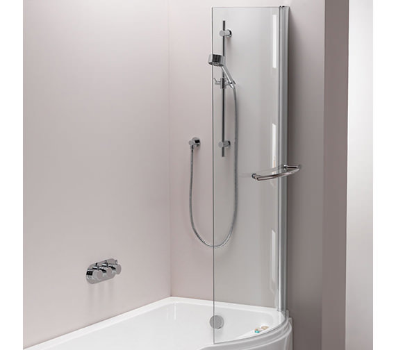 Pura Arco Left Or Right Hand Hinged Shower Bath Screen 800 x 1500mm