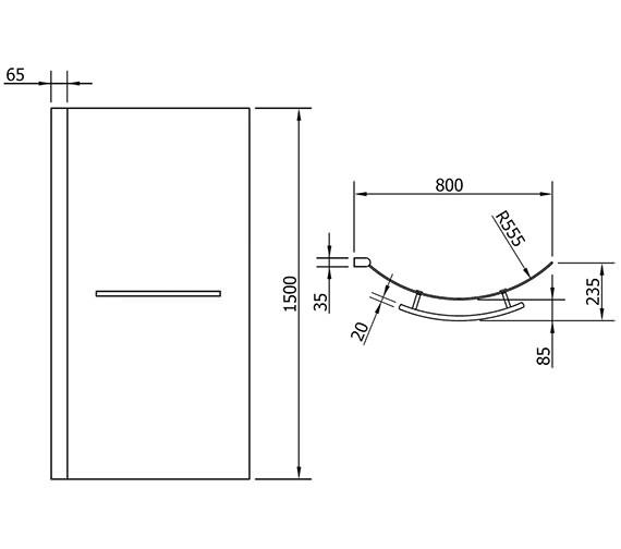 Technical drawing QS-V72283 / PBSBS