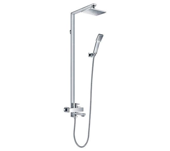 Flova Essence Manual Rigid Riser Shower Set With Bath Filler Spout