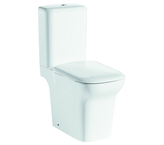 Pura Grace Open-Back Close Coupled WC Bowl With Cistern And Seat 650mm
