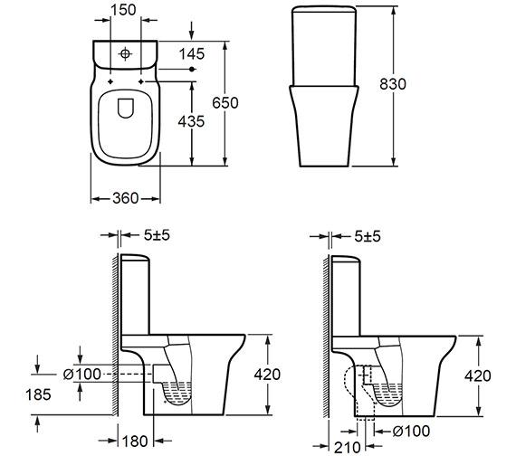 Technical drawing QS-V72287 / C10134