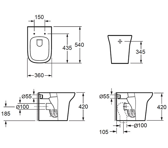 Technical drawing QS-V72290 / CB10134