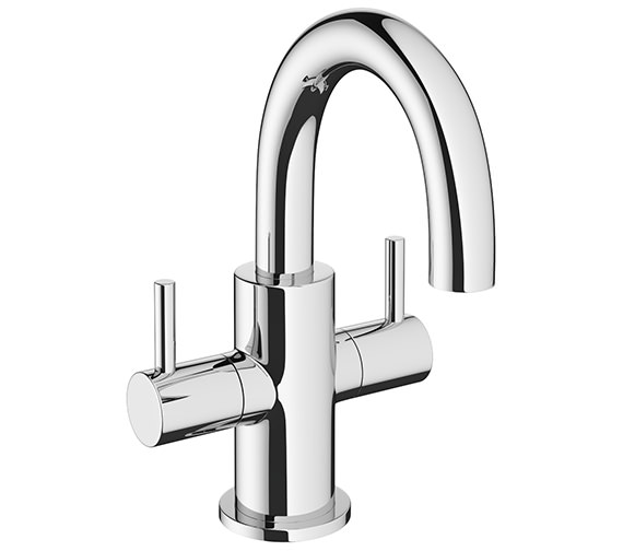 Crosswater MPRO Chrome Deck Mounted Twin Lever Monobloc Basin Mixer Tap