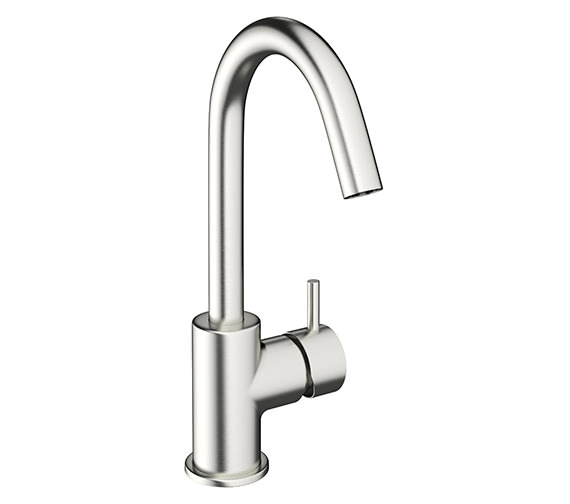 Crosswater Mike Pro Brushed Stainless Steel Single Lever Basin Mixer Tap