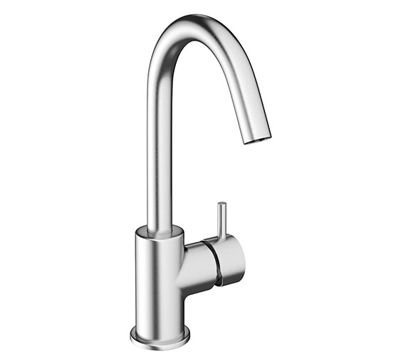 Crosswater Mike Pro Brushed Chrome Single Lever Monobloc Basin Mixer Tap