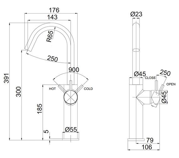 Technical drawing QS-V72541 / PRO113DNV