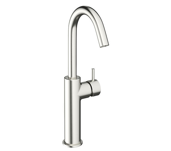 Crosswater Mike Pro Brushed Stainless Steel Monobloc Tall Basin Mixer Tap