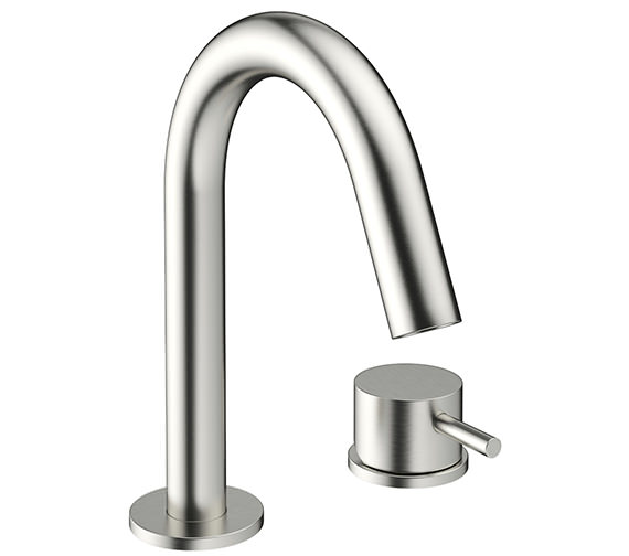 Crosswater Mike Pro 2 TH Deck Mount Brushed Stainless Steel Basin Mixer Tap
