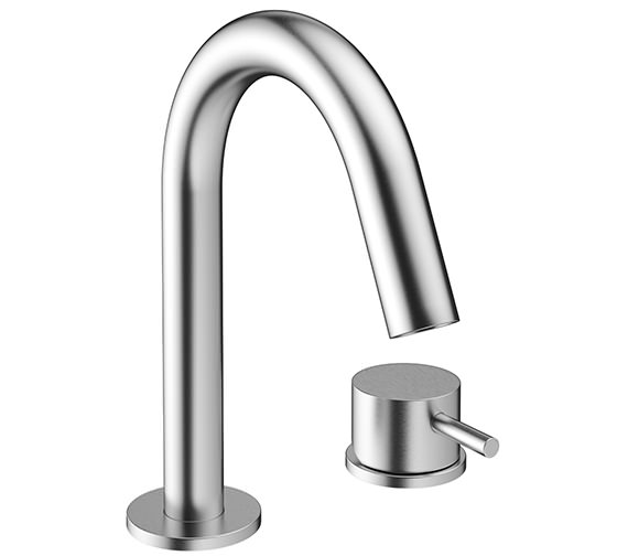 Crosswater Mike Pro 2 Hole Deck Mounted Brushed Chrome Basin Mixer Tap