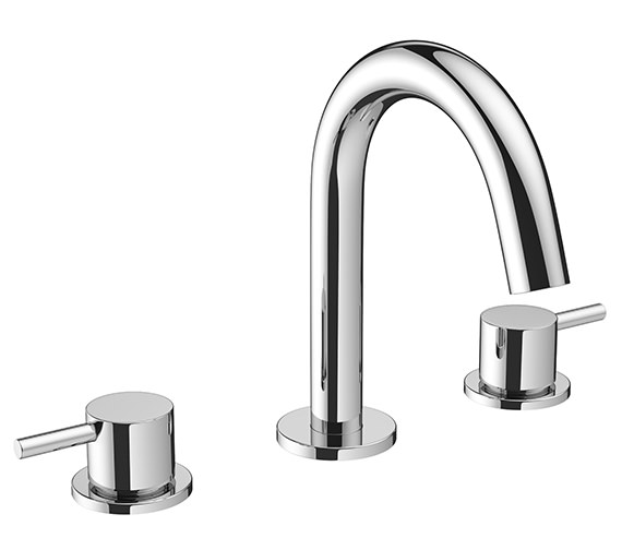Crosswater Mike Pro 3 Hole Deck Mounted Chrome Basin Mixer Tap