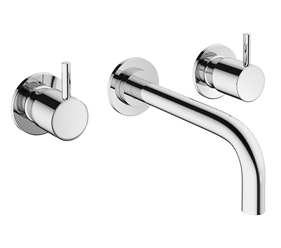 Crosswater Mike Pro 3 Hole Wall Mounted Chrome Basin Mixer Tap