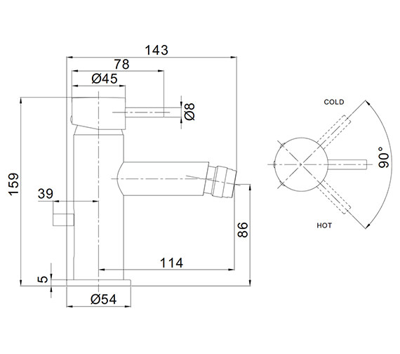Technical drawing QS-V72553 / PRO210DPV