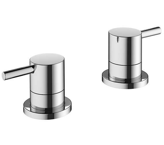 Crosswater Mike Pro Deck Mounted Chrome Bath Panel Valves