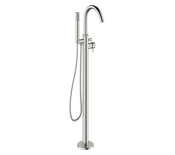 Crosswater Mike Pro Brushed Stainless Steel Bath Shower Mixer Tap With Kit