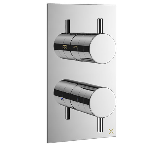 Crosswater Mike Pro Chrome Double Outlet Thermostatic Shower Valve