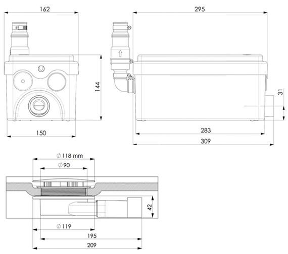 Technical drawing QS-V72659 / 1043/3