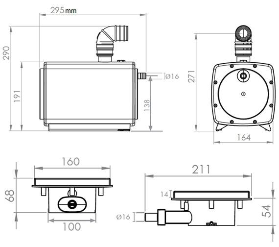 Technical drawing QS-V72660 / 1154