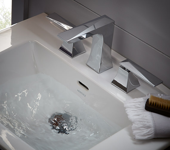 Additional image of Heritage Hemsby Chrome 3 Taphole Basin Mixer Tap With Waste