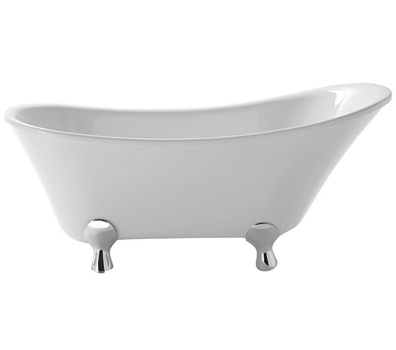 Heritage Grantham Slipper Freestanding Acrylic Bath With Feet 1550 x 670mm