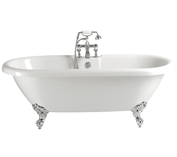 Heritage Baby Oban Freestanding Double Ended Bath With Feet 1495 x 795mm