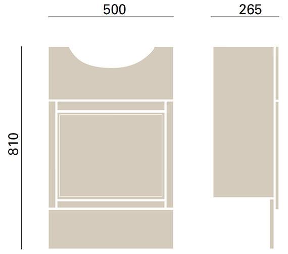 Technical drawing QS-V72677 / KWA56