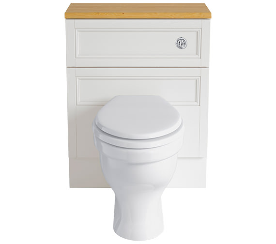 Heritage Caversham White Ash 640mm Back-To-Wall WC Furniture Unit