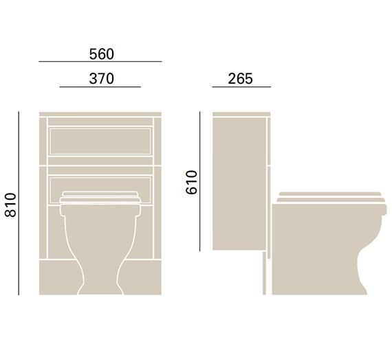 Technical drawing QS-V72679 / KWA41