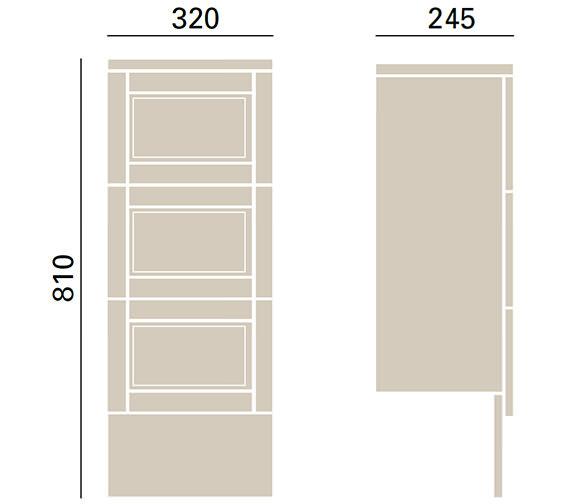 Technical drawing QS-V72682 / KWA48