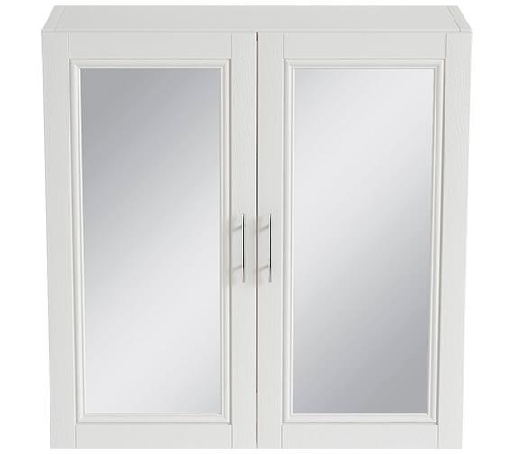 Heritage Caversham White Ash 640mm 2 Door Mirror Wall Cabinet - KWA51