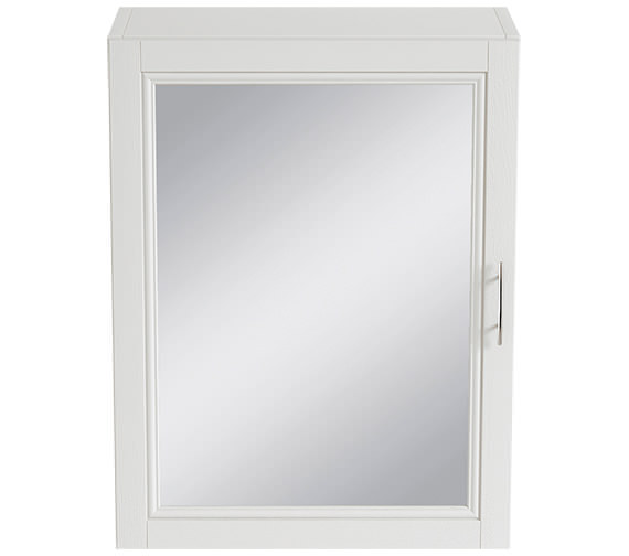Heritage Caversham White Ash 500mm 1 Door Mirror Wall Cabinet - KWA37