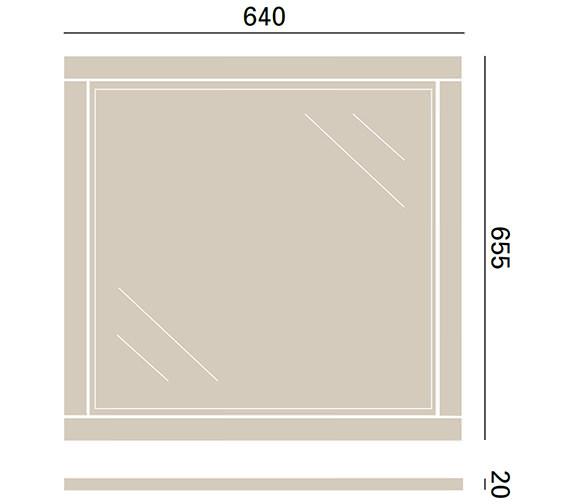 Technical drawing QS-V72686 / KWA44