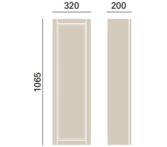 Technical drawing QS-V72688 / KWA39