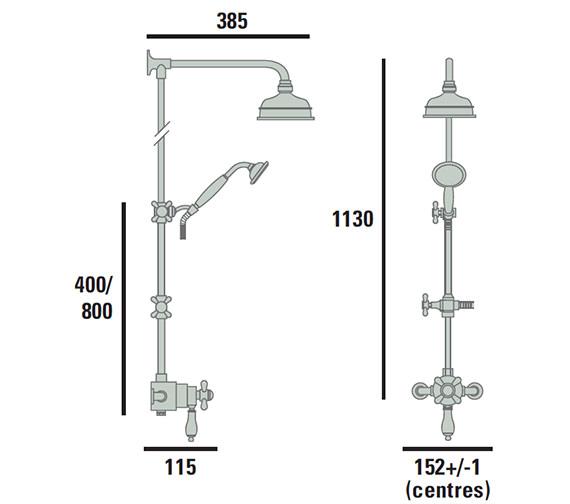 Technical drawing QS-V72707 / AVEDUAL01