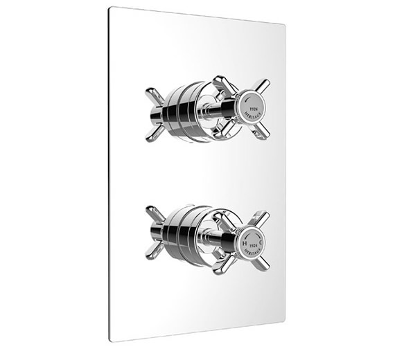 Heritage Dawlish Dual Control Chrome Recessed Thermostatic Shower Valve