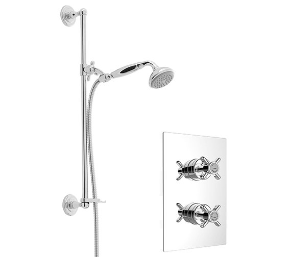 Heritage Dawlish Chrome Recessed Thermostatic Valve With Shower Kit
