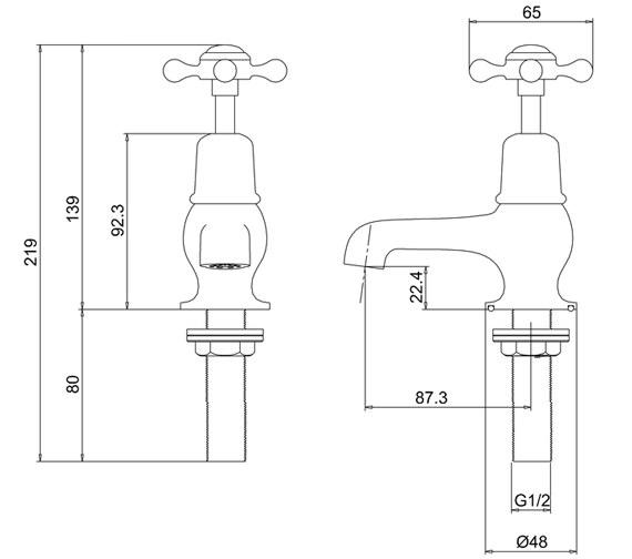 Technical drawing QS-V73001 / CL1 BLA