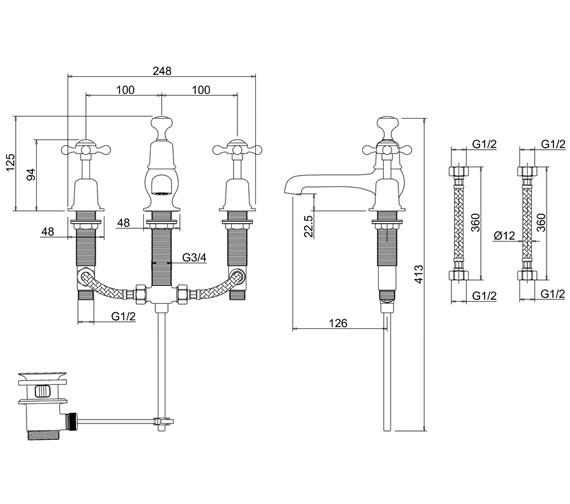 Technical drawing QS-V73004 / CL12