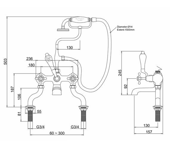 Technical drawing QS-V73010 / CL15