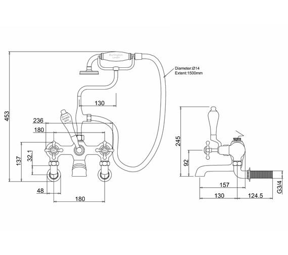 Technical drawing QS-V73012 / T8