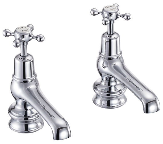 Burlington Claremont Regent Chrome Plated 5 Inch Basin Taps - CLR2