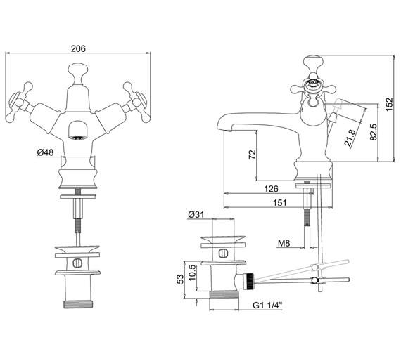 Technical drawing QS-V73021 / CLR4