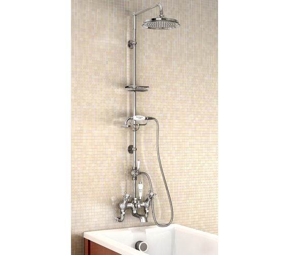 Burlington Wall Mounted Angled Bath Shower Mixer With Straight Arm