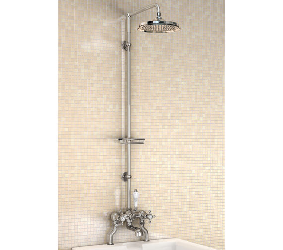 Burlington Bath Shower Mixer With Straight Shower Arm And 9 Inch Rose