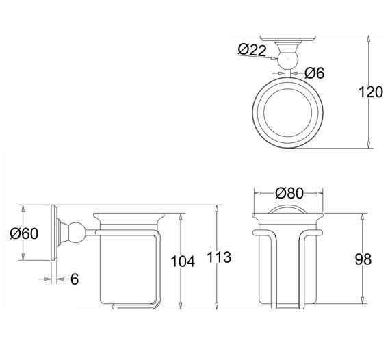 Technical drawing QS-V73052 / A2 CHR