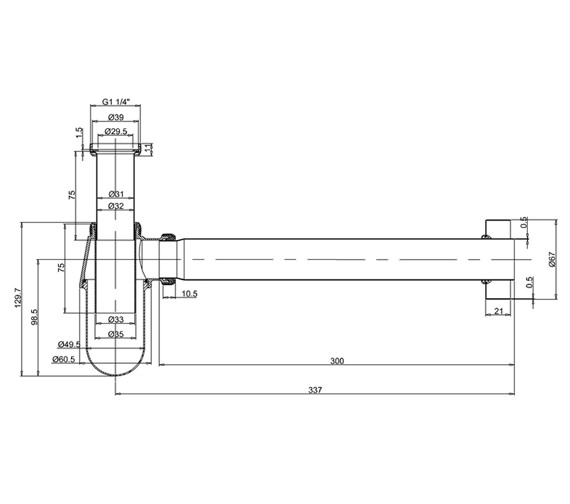 Technical drawing QS-V73065 / W14