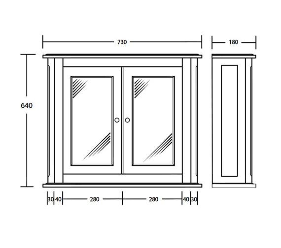 Technical drawing QS-V73460 / XWT0220020