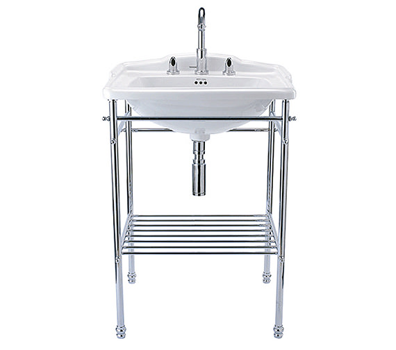 Imperial Drift 625mm Square Basin With Chrome Stand